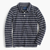 J.Crew Boys' long-sleeve polo shirt in mini stripe