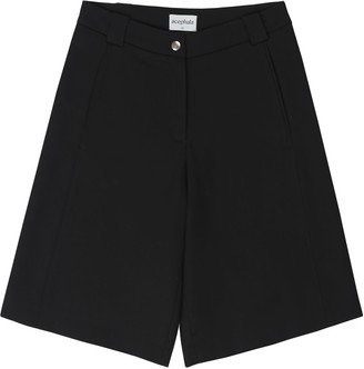 Acephala Black Tailored Shorts