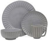 Mikasa Monterey Gray Terracotta 16-Piece Dinnerware Set, Service for 4