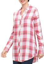 Foxcroft Fay Plaid Tunic Top