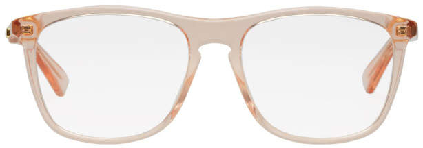 Gucci Pink Genderless Square Glasses