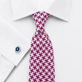 Charles Tyrwhitt Pink silk luxury oversized end-on-end puppytooth tie