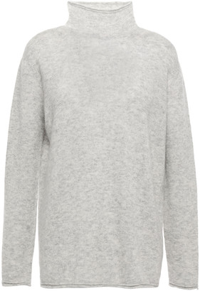 Agnona Melange Cashmere And Silk-blend Sweater
