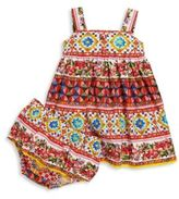 Dolce & Gabbana Baby's Two-Piece Floral Print Dress & Bloomers Set