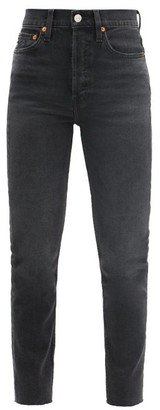 RE/DONE 90s High-rise Slim-leg Cropped Jeans - Black