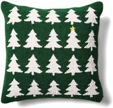 One Kings Lane X-Mas Tree 18x18 Wool Pillow, Green