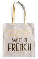 Rosanna Say It In French Tote Bag - White