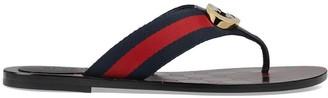 Gucci GG thong Web sandals