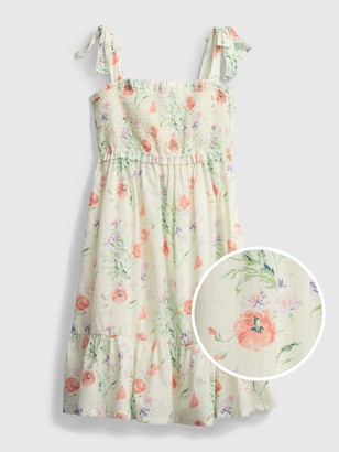 Gap Kids Smocked Floral Dress