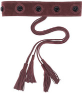Maje Tasseled Suede Belt