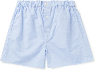 Emma Willis Prince Of Wales Checked Cotton-Poplin Boxer Shorts