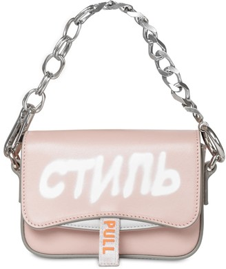Heron Preston Mini Canal Leather Shoulder Bag
