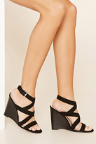 Forever 21 FOREVER 21+ Strappy Wedge Sandals