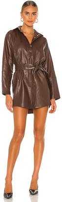 Marissa Webb Madi Mini Leather Tunic Dress