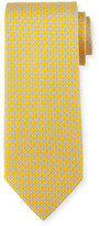 Salvatore Ferragamo Micro Gancini Links Silk Tie, Yellow