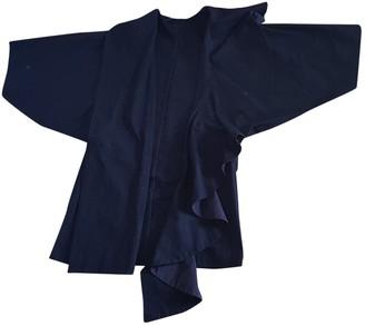 Yohji Yamamoto Black Cotton Coat for Women Vintage