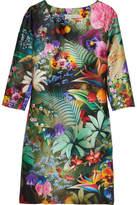 Mary Katrantzou Shea Floral-print Silk-faille Dress - Green