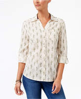 Style and Co Cotton Printed Shirt, Created for Macy's