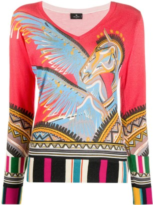 Etro Long Sleeves Knitted Top