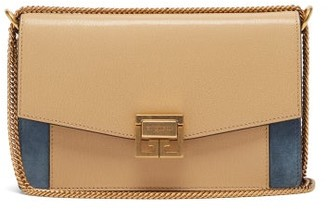 Givenchy Gv3 Mini Leather And Suede Cross-body Bag - Womens - Beige Multi