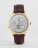 Vivienne Westwood Brown Leather Portland Watch VV164CHBR