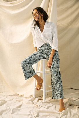 Let Me Be Gretchen Floral Pants By Let Me Be in Grey Size XS