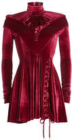 Y/Project Velvet Dress with Lace-Up Detail