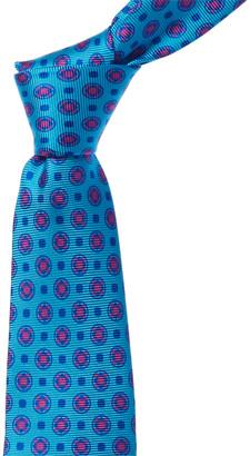Kiton Turquoise Silk Tie