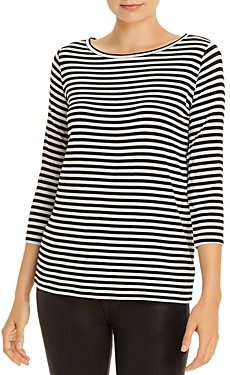 Majestic Filatures Striped Boat Neck Tee