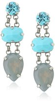 "Sorrelli Teal Textile"" Assorted Gem Drop Earrings"
