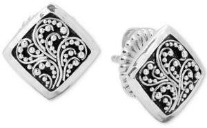 Lois Hill Filigree Stud Earrings in Sterling Silver