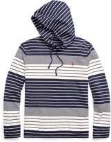Ralph Lauren Striped Cotton Hooded T-Shirt
