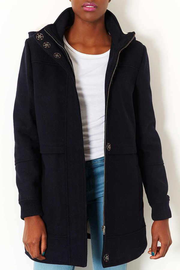 Topshop Clean Duffle Coat