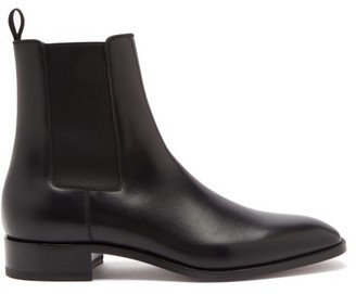Christian Louboutin Samson Leather Chelsea Boots - Mens - Black