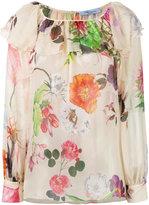 Blumarine floral print ruffled blouse - women - Silk - 42