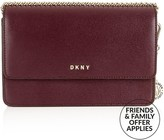 DKNY Sutton Small Leather Cross-Body Bag- Burgundy
