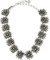 Oscar de la Renta Crystal Cluster Collar Necklace