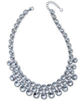 Charter Club Silver-Tone Multi-Crystal Bezel Collar Necklace, Only at Macy's