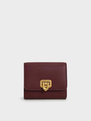 Charles & Keith Classic Push-Lock Mini Wallet