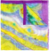 Etro blurred print scarf