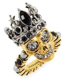 Alexander McQueen Skull Queen Ring