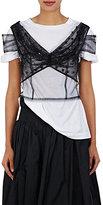 Dries Van Noten Women's Chaney Silk Tulle Crop Top-Ivory, Black