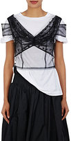 Dries Van Noten Women's Chaney Silk Tulle Crop Top