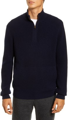 Vince Thermal Quarter Zip Sweater