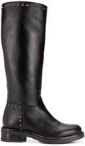 Albano stud embellished mid-calf length boots