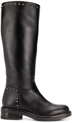 Albano Stud Embellished Mid-Calf Length Boots