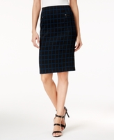 Alfani Petite Jacquard Pencil Skirt, Created for Macy's