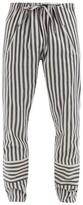 Marrakshi Life - Striped Pyjamas Trousers - Mens - Black Grey