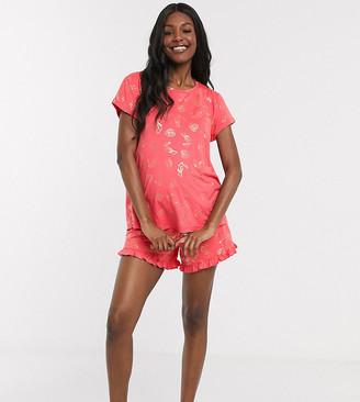 Chelsea Peers Maternity Exclusive foil toucan printed revere pyjama set