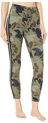 Skechers Floral High-Waisted 7/8 Leggings (Camo) Women's Casual Pants